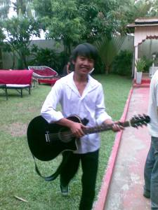 Budding rock star