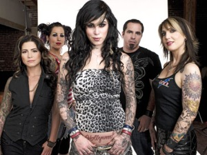 LA INK CREW ; Kim,Pixie,Kat Von D,Corey and Hannah