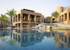 Zighy Bay Six Senses Hotel / Oman. Arrive by speedboat or parachute only. True.
