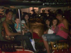 A Tuk Tuk full of girls !