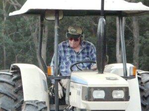 On his Lamborghini Tractor