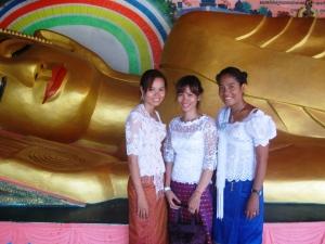 Srey Touche, At ,Leakhana and one BIG reclining Buddha