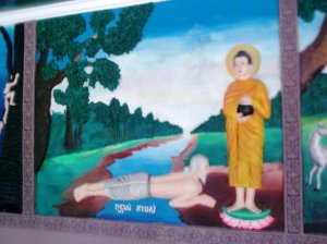 This is a simple story about the man who wanted Buddha to walk on him....