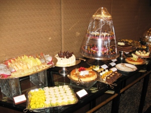 Le Table des gateaux a la Intercon