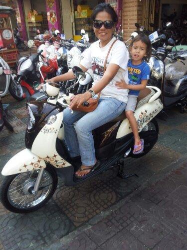 The wife's new ride. 2011 Yamaha Fino
